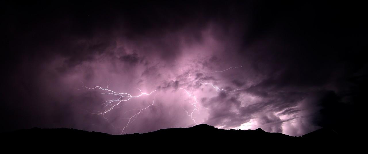 Gewitter über Kreta  (Foto: B.R., Sternwarte Hagen)