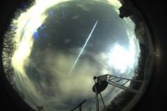 Feuerkugel vom 12. April 2019 gegen 22:14 Uhr (Foto: SkyCam der Sternwarte Hagen)