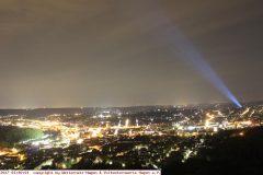 Lichtverschmutzung durch einen Sky-Beamer