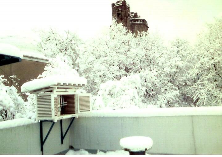Winter an der Sternwarte (Foto: Günter Röttler)