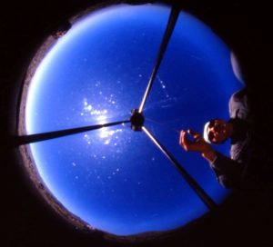 Meteoriten-Ortungskamera von oben (Foto: Jürgen Tiedtke)