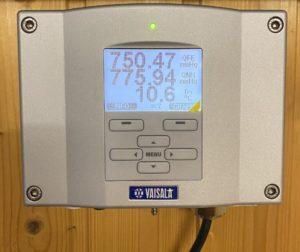 Elektronisches Barometer (Foto: Bastian Rissling)